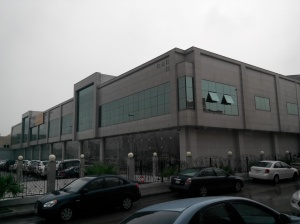 Ons kantoor in de regen