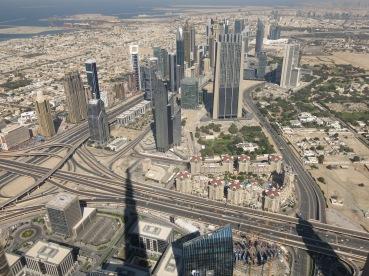Uitzicht vanaf Buhrj Khalifa