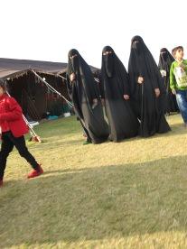 Ninja's als ze 2x deze omvang hebben zijn het barbamama's